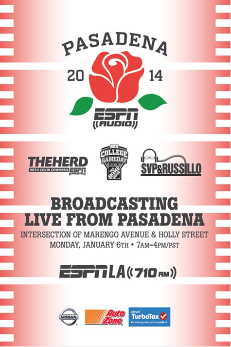 Public Invited to join ESPN Broadcasting Live from City Hall