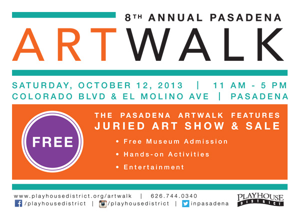 PASADENA ARTWALK, SAN GABRIEL'S LARGEST URBAN ART FAIR RETURNS SATURDAY, OCTOBER 12 FROM 11 AM – 5 PM