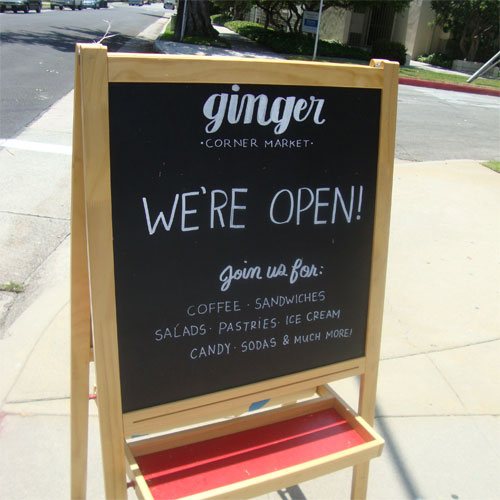 Ginger Corner Market Opening July 7th!