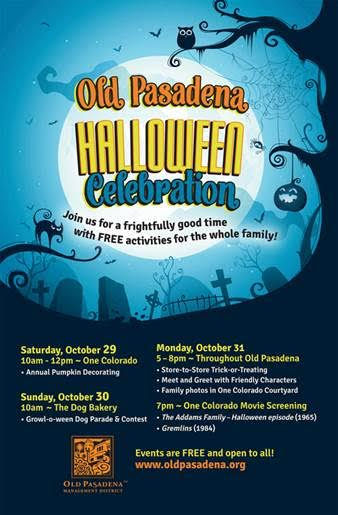 OLD PASADENA HOSTS A HALLOWEEN WEEKEND   OF FUN, FREE ACTIVITIES FOR THE WHOLE FAMILY